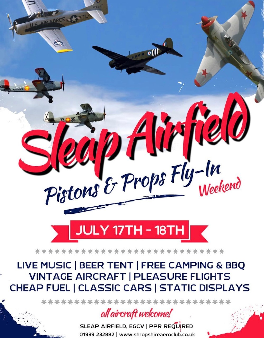 Flyout to Sleap Airfield